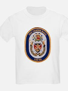 USS Carter Hall LSD 50 Kids T-Shirt