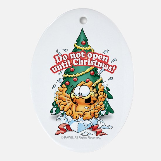Do Not Open Until Christmas! Ceramic Ornament