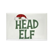 Head Elf Rectangle Magnet