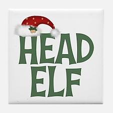 Head Elf Tile Coaster