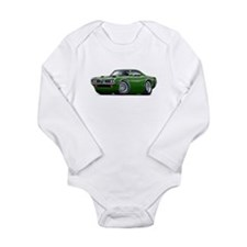 Super Bee Green Hood Scoop Long Sleeve Infant Body