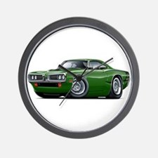 1970 Super Bee Green Car Wall Clock
