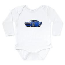 Super Bee Blue-Black Car Long Sleeve Infant Bodysu