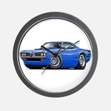 Super Bee Blue-Black Car Wall Clock