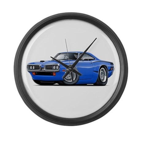Super Bee Blue-Black Car Large Wall Clock