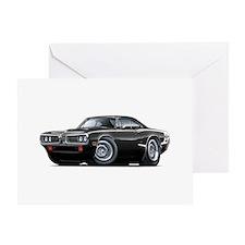 Super Bee Black Hood Scoop Car Greeting Card