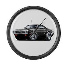 1970 Super Bee Black Car Large Wall Clock