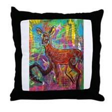 Oh Deer God Throw Pillow
