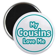 Cousins Love Me Magnet