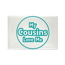Cousins Love Me Rectangle Magnet