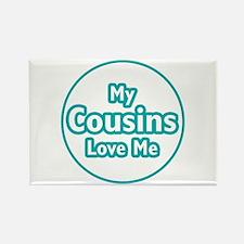 Cousins Love Me Rectangle Magnet
