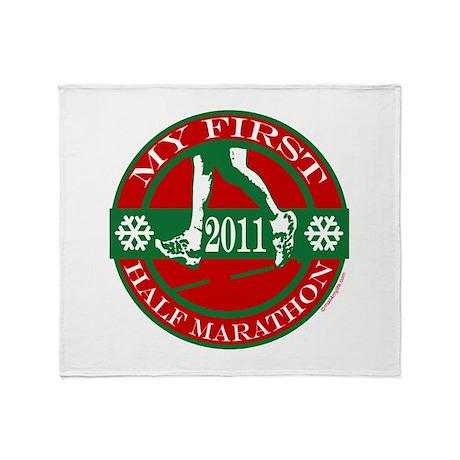 My First Half Marathon - 2011 Throw Blanket