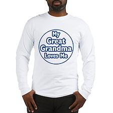 Great Grandma Loves Me Long Sleeve T-Shirt