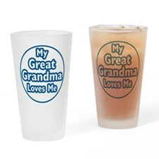 Great Grandma Loves Me Drinking Glass