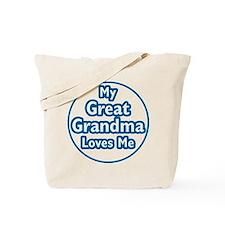Great Grandma Loves Me Tote Bag