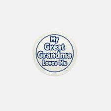 Great Grandma Loves Me Mini Button