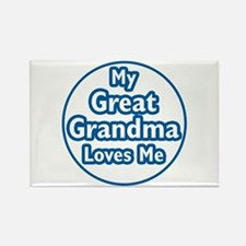 Great Grandma Loves Me Rectangle Magnet