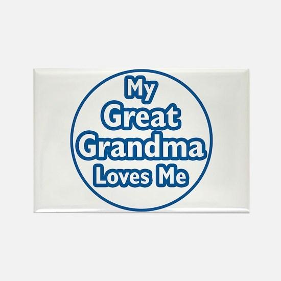 Great Grandma Loves Me Rectangle Magnet