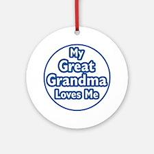 Great Grandma Loves Me Ornament (Round)