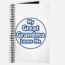 Great Grandma Loves Me Journal
