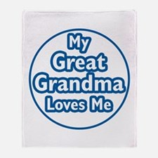 Great Grandma Loves Me Throw Blanket
