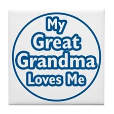 Great Grandma Loves Me Tile Coaster