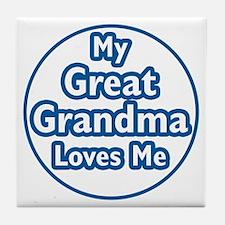 Great Grandma Loves Me Tile Coaster