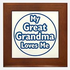 Great Grandma Loves Me Framed Tile