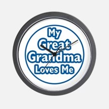 Great Grandma Loves Me Wall Clock