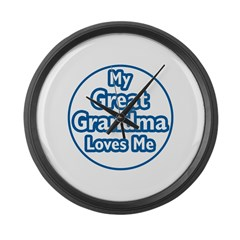 Great Grandma Loves Me Large Wall Clock