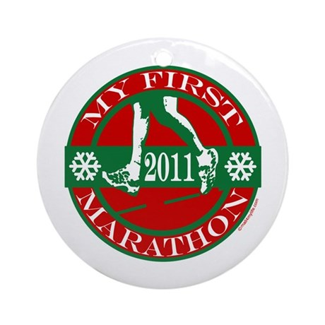 My First Marathon - 2011 Ornament (Round)