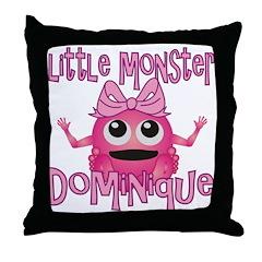 Little Monster Dominique Throw Pillow
