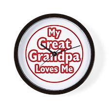 Great Grandpa Loves Me Wall Clock