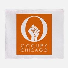 Occupy Chicago Throw Blanket