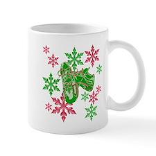 Running Shoes & Snowflakes Mug