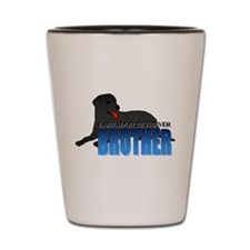 Black Labrador Retriever Brother Shot Glass