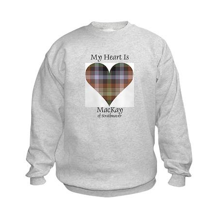 Heart - MacKay of Strathnaver Kids Sweatshirt