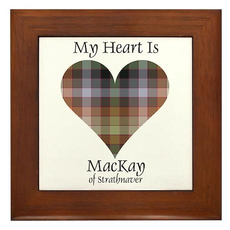 Heart - MacKay of Strathnaver Framed Tile