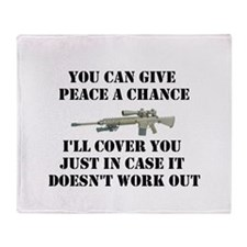 Peace or Protection Throw Blanket
