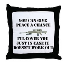 Peace or Protection Throw Pillow