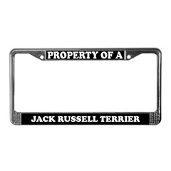 Property Jack Russell Terrier License Plate Frame