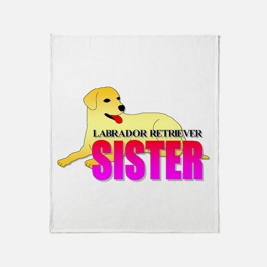 Yellow Labrador Retriever Sister Throw Blanket