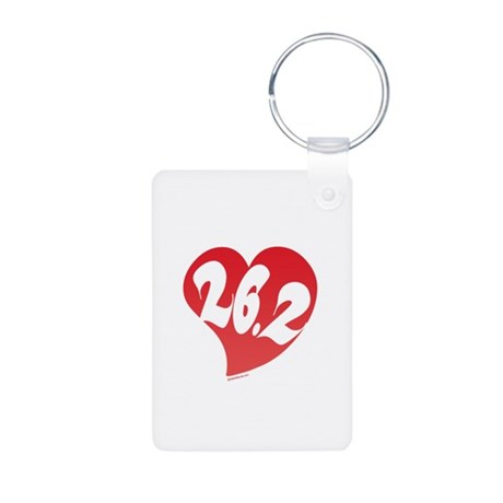 Marathon Club Aluminum Photo Keychain