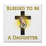 Blessed Daughter Tile Coaster