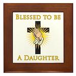 Blessed Daughter Framed Tile
