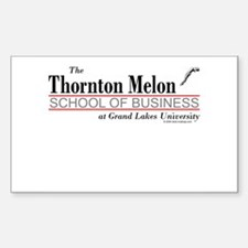 Melon School of Business Rectangle Decal