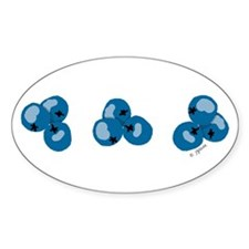 Blueberries Oval Decal