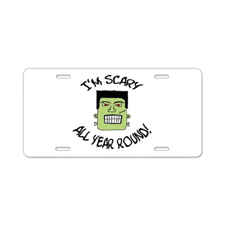 'I'm Scary' Aluminum License Plate