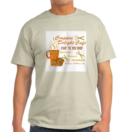 Croppin' Delight Cafe V.1 Distressed Ash Grey T-Sh
