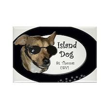 st thomas island dog Rectangle Magnet